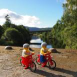 Cycling over the River Spey
