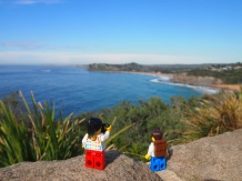 Admiring the view from Bilgola Beach lookout the following morning