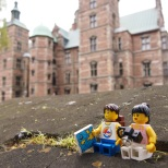 Stopping for a rest at Rosenborg Castle