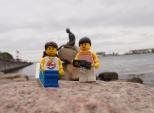 Visiting the famous 'Little Mermaid' sculpture
