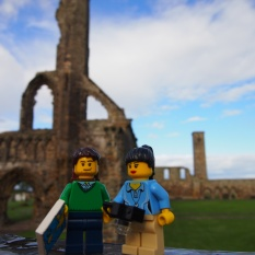 Sightseeing in the historical Old Town - first stop, the ruins of St Andrews Cathedral
