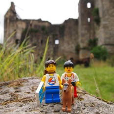 Exploring the historical ruins of Torwood Castle