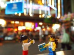 Getting a picture on the famous Bangkok street
