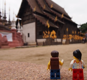 First day sightseeing in Chiang Mai - visit to Wat Tao temple