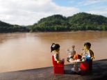 Breakfast by the river in Luang Prabang