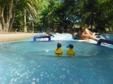 Floating round on our rubber ring!