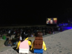 Christmas Movie night on the beach