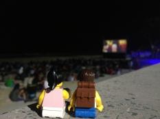 Christmas Movie night on the beach