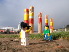 Geelong waterfront with the renowned Bay Walk bollards