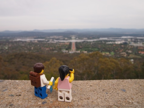 View of Capital Hill from Mount Ainslie lookout