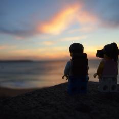 Admiring the beautiful sunset