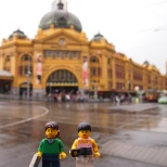 Outside Flinders Street Station