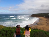 The famous Bells Beach near Torquay (known for the film 'Point Break') - the start of our Great Ocean Road trip