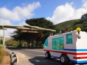 Driving towards the Great Ocean Road Memorial Arch
