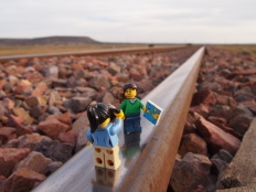 The deserted train tracks at Port Augusta