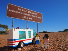 Stopping for a rest before tackling Australia's longest straight stretch of road, and one of the longest in the world!