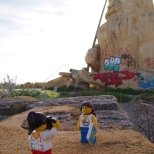 King Neptune sculpture at Atlantis Marine Park, the abandoned theme park in Two Rocks, near Yanchep