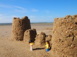 Exploring the sandcastle ruins close to Urangan Pier