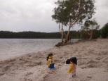 Disappointed by the weather at Lake McKenzie