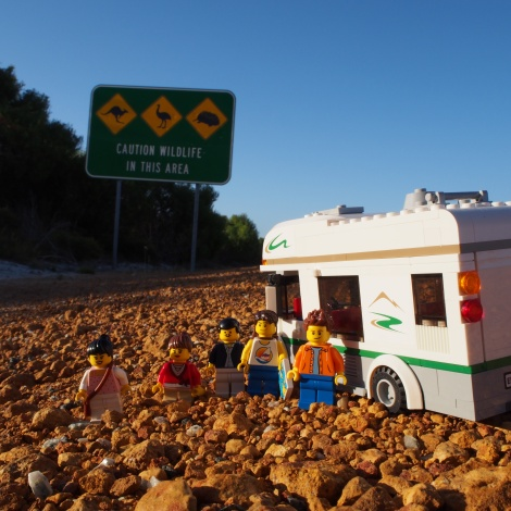 Stopping for a scenic roadside picture with everyone!