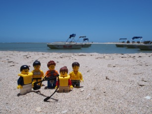 We hired a little boat at Kalbarri and had great fun fishing in the Murchison River