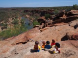 Admiring the views of the river gorges at Hawks Head in Kalbarri National Park