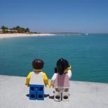 Admiring the beautiful Dolphin Beach